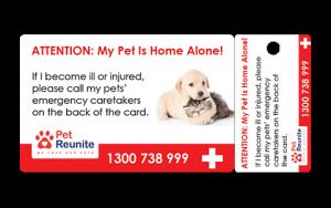 Pet Net ID In Case Of Emergency Card
