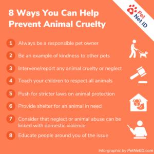 [INFOGRAPHIC] How To Prevent Animal Cruelty - 8 Ways You Can Help Prevent Animal Cruelty