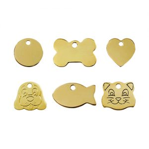 Brass Pet ID Tags