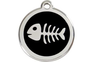 Cat ID Name Tags with Fish Bone