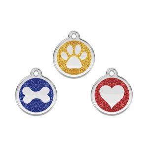 Glitter Pet ID Tags