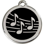 Music Note Pet Tags for Dogs and Cats