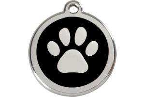 Paw Design Pet ID Tags for Dogs and Cats